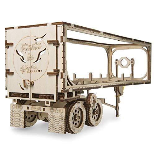 [해외]UGEARS 헤비 보이 트럭 VM-03 셀프 조립 3D 나무 모델 / UGEARS Trailer for Heavy Boy Truck VM-03 Self-Assembling 3D Wooden Model