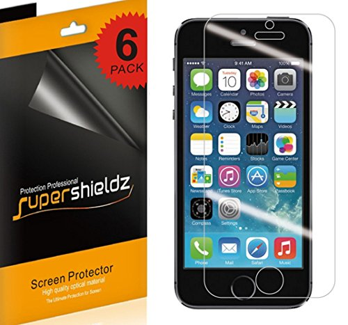(Supershieldz [6-Pack] for iPhone SE / 5S / 5C / 5 Anti-Glare & Anti-Fingerprint (Matte) Screen Protector + Lifetime Replacement)