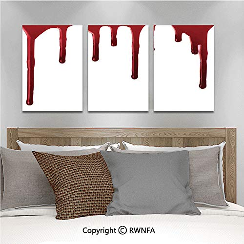 Canvas Wall Art HD Flowing Blood Horror Spooky Halloween Zombie Crime Scary Help me Themed Illustration Modern Canvas Prints Painting Artworks Oil Painting Decorative,15.7
