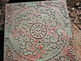 Stepping Stone Mold - Giant English Victorian Flower Design Mould, Concrete - #SS-2424B