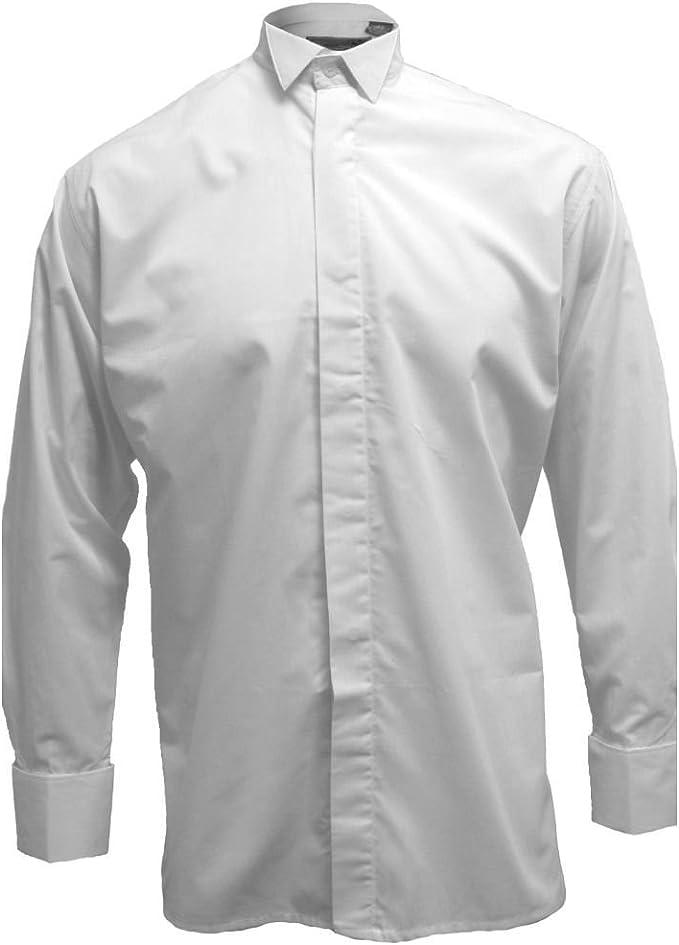 Tartanista Broadsword - Camisa para Hombre con Cuello Esmoquin - Blanco - 39 cm