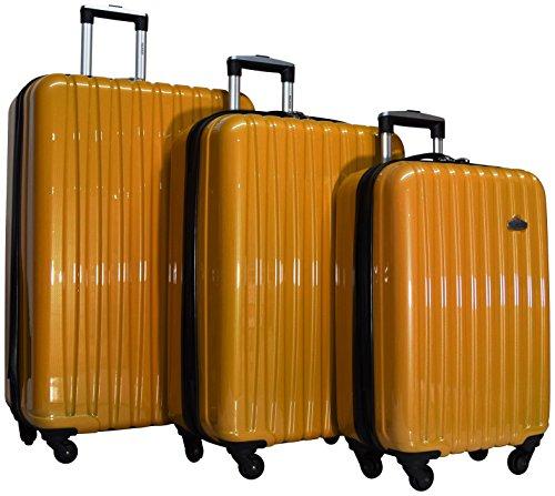 "Ricardo Bradbury Hardside Spinner Luggage Sets (29"", 25"", and 21"", Gold)"