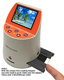 Wolverine F2D Mighty 20MP 7-in-1 Film to Digital Converter and (3) Wolverine Slide Tray Bundle