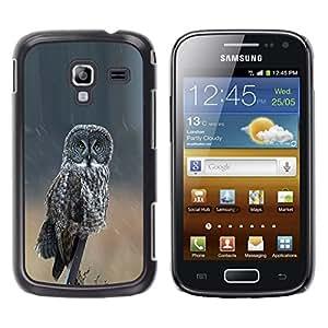 Caucho caso de Shell duro de la cubierta de accesorios de protección BY RAYDREAMMM - Samsung Galaxy Ace 2 I8160 Ace II X S7560M - Ornithology Wings Nature Summer