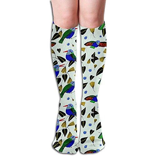 Unisex Knee High Long Socks Hummingbird Cute Bird Over Calf Casual Sport Stocking Cotton