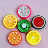 6PC Crystal Fruit Clay Rubber Mud Intelligent Hand Gum Plasticine Slime Kid Toys For Any Child Favor, Gift, Birthday-By Gbell