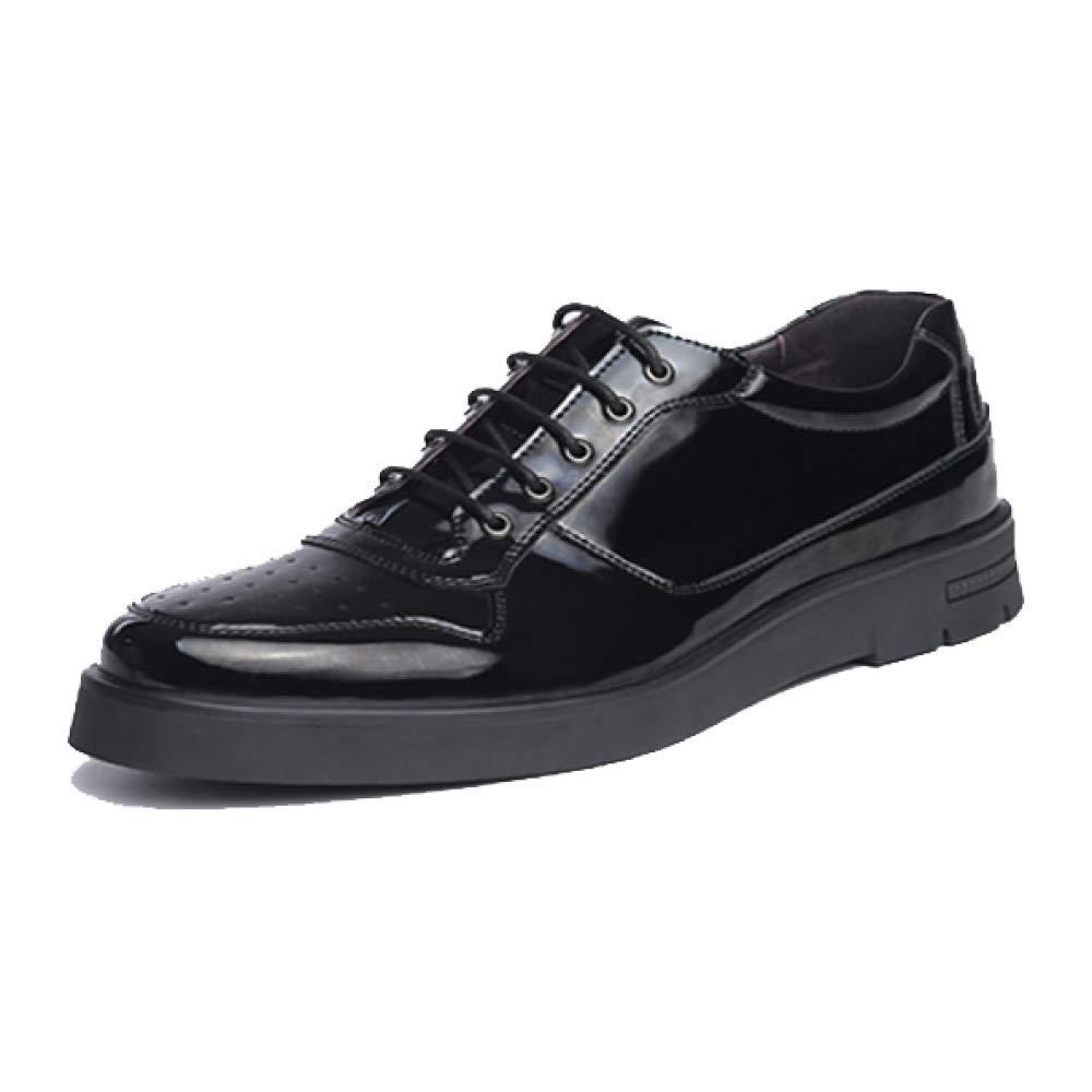 Leder Schuhe der Männer Beiläufige Vielseitige Widerstand Britische Art Schock Absorptionskorrosions Widerstand Vielseitige schwarz 6b45e9