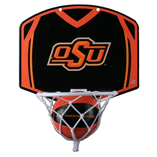 (Oklahoma State Cowboys Mini Basketball and Hoop Set)