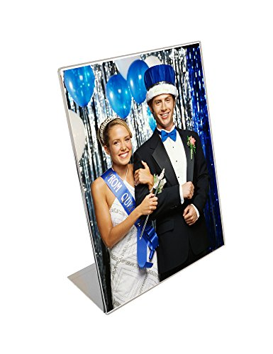 Bent Acrylic Vertical Frame (5x7 Acrylic Bent Easel Frames - Pack of 50)