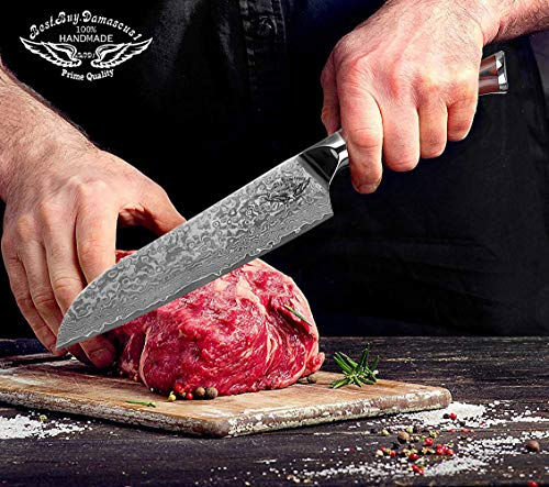 Santoku Chef knife 8 inch Best Quality Japanese VG -10 Super Steel 67 Layer High Carbon Stainless Steel, Incredible G10 Handle, Full-tang, Razor Sharp Chef Blade Kitchen Carving fillet chefs knives by Best.Buy.Damascus1 (Image #6)