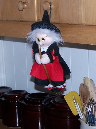 10'' Hanging Kitchen Witch By Jumbl