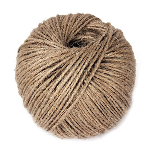 AllDao 330 Feet Natural Jute Twine Hemp String Arts Crafts Gift Wrapping 2mm Cord Rope Roll for DIY - Natural Color ()