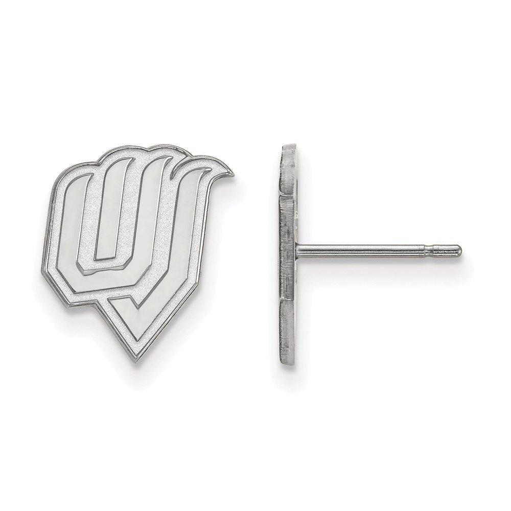 Collegiate Utah Valley State Sterling Silver LogoArt Utah Valley State Small Post Earrings