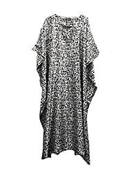 Fionalissa Women's Printed Soft Silky Satin Long Caftans. One Size