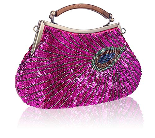 Banquet Clutch Strap Evening Crystal Bag Chain Women Bags Peacock C With x7f6g8w