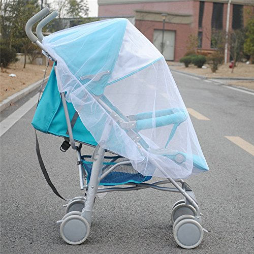 Mosquito Net Bug Net for Baby Strollers Infant Carriers Baby Cradle Ultra Fine Mesh Protection Against Mosquitos No Harmful Chemicals Help Baby Stay Away from Bugs (White) by Generic (Image #4)