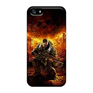 PhilHolmes Iphone 5/5s Anti-Scratch Hard Cell-phone Cases Allow Personal Design Fashion Gears Of War Image [EyA2419GmOp]