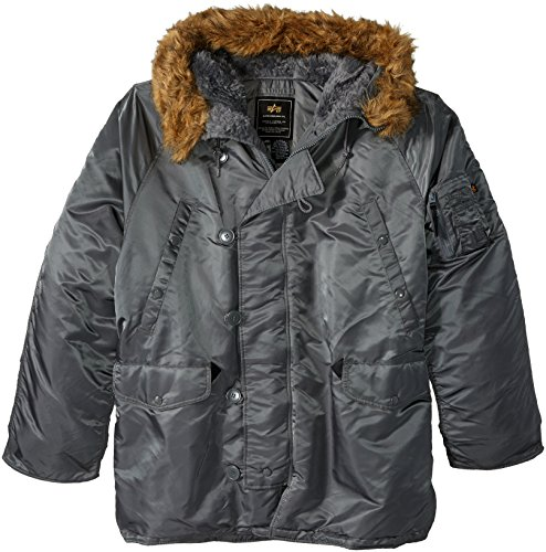 Alpha Industries Men's N-3B Parka Jacket, Gun Metal,, used for sale  Delivered anywhere in USA