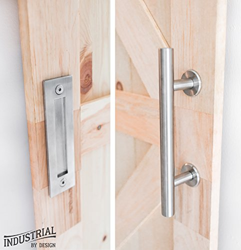 Industrial By Design - Barn Door Handle with Flush Pull - 12