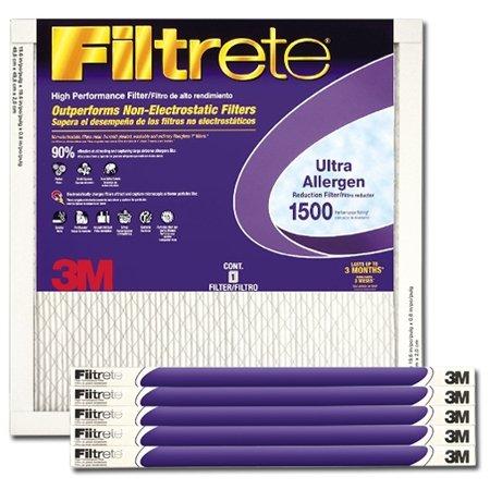 Filtrete MERV 11 16x16x1 Ultra Allergen Air Filter MPR 1500 - 6 Pack