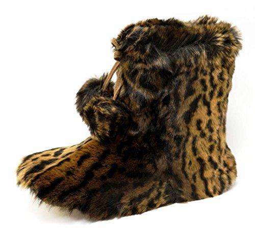 India Julia Boots Slipper Dunlop DLH7885 Womens Brown XqSU1w