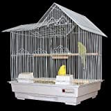 Posh Pets Bird Cage White Granite Fabio Cages With Swing