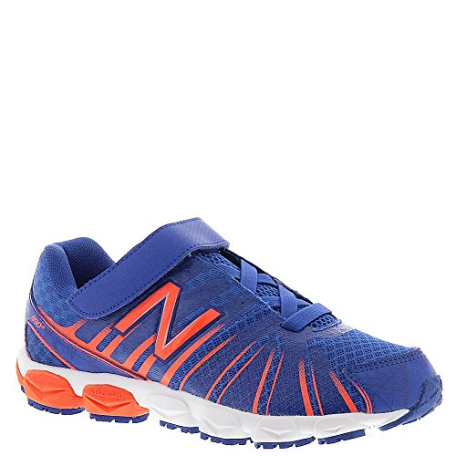 New Balance KV890 Pre Hook and Loop Running Shoe (Little Kid), Blue/Orange, 10.5 W US Little Kid