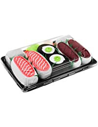 SUSHI SOCKS BOX 3 pairs Tuna Salmon Cucumber Maki FUNNY GIFT! Made in Europe
