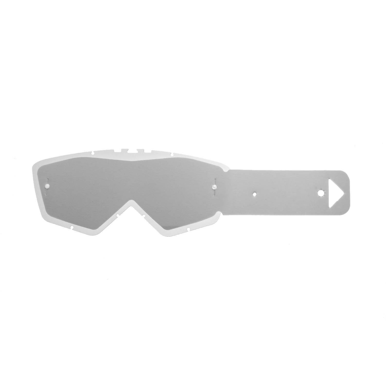 SeeCle 414E10 lentes combo con lentes de color transparente con 10 tear off compatible con mà scara Ariete Andrenaline RC07/Ride And Roll