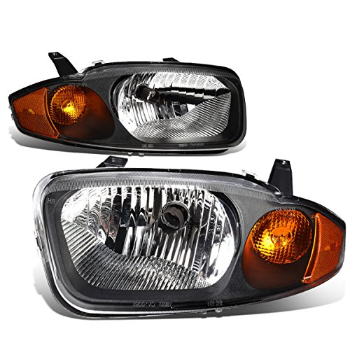Dna Motoring Hl Oh 025 Bk Am Headlight Assembly  Driver And Passenger Side