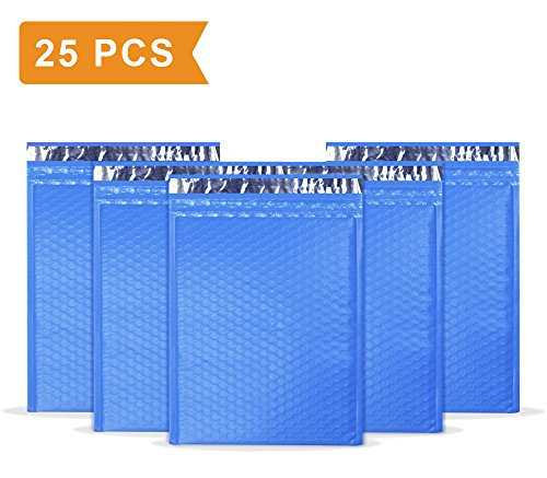 UCGOU #2 8.5x12 Blue Poly Bubble Mailers Padded Envelopes Self Seal Mailing Envelopes Pack of 25