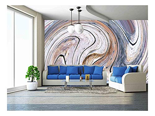 wall26 - Abstract Circles Art Background. (Swirl Pattern) - Removable Wall Mural | Self-Adhesive Large Wallpaper - 66x96 inches