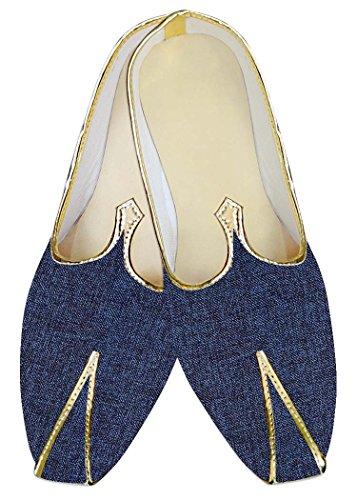 INMONARCH Mens Denim Blue Jute Polyester Wedding Footwear MJ015381 8xuY6JZ