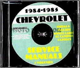 1984 1985 Chevy Repair Shop & Service Manual CD El Camino ...  Chevy Monte Carlo Ignition Wiring Diagram on
