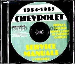 1984 1985 chevy repair shop service manual cd el camino caprice rh amazon com 1988 Chevrolet Monte Carlo 1989 Chevrolet Monte Carlo