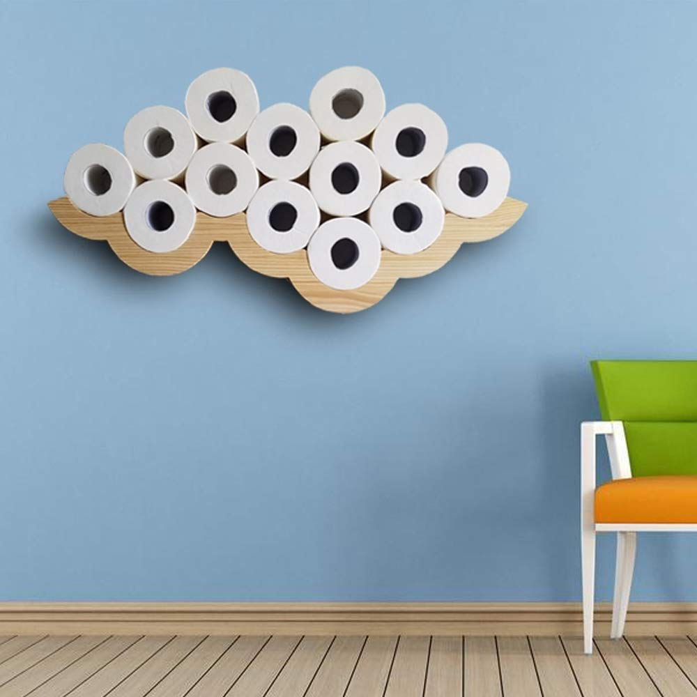 Gecious Cloud Toilet Paper Holder Wall Mount, Wood by Gecious (Image #2)