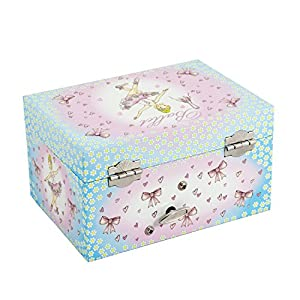 Ballerina Kids Musical Jewellery Box Pink and Blue Glittery Music Box Lucy Locket