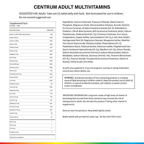 Centrum Adult (300 Count) Complete Multivitamin / Multimineral Supplement Tablet, Vitamin D3, B Vitamins, Iron, Antioxidants by Centrum (Image #6)