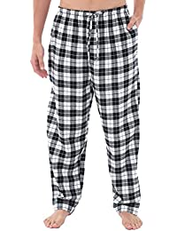 Mens Flannel Pajama Pants, Long Cotton Pj Bottoms