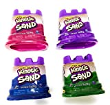 Kinetic Sand Neon Colors | Gift Set of 4 Colors - Purple, Blue, Pink & Green 5 oz Containers
