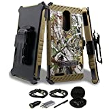 ZTE Zmax Pro Case, Mstechcorp Heavy Duty Protection with Swivel Belt Clip Holster with Kickstand Case for ZTE Grand X Max 2 / Imperial Max Z963U / Kirk Z988 / Max Duo 4G With Accessories (Camo) offers