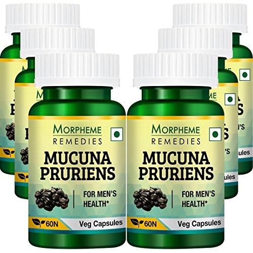 Morpheme Kapikachhu Mucuna Pruriens – 500mg Extract – 60 Veg Capsules – 6 Combo Pack