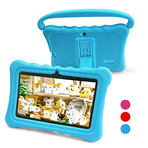 Kids Tablet,Yue Ying 7 inch Tablet for Kids,Google Android 6.0,Per-Installed iWawa APP,IPS Display Screen,1GB+8GB,Wi-Fi,Bluetooth (Blue)