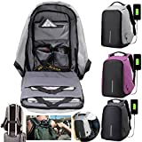 Anti-theft Backpacks 15inch Laptop Smart Backpacks For Teenager Fashion Mochila Leisure Travel backpack Lightweight School Bookbags with USB Charger for men&women (Black)