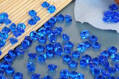 Royal Blue Acrylic 10000 Pcs 45mm Wedding Table Scatter Diamonds