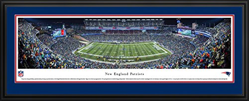 New England Patriots - 50 Yard Line at Gillette Stadium - Panoramic Print