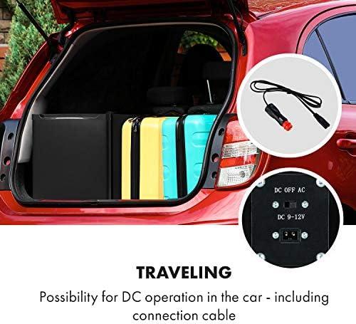 Klarstein CoolTour 38 mininevera - 38 litros, 12 V y 230 V, clase G, enfriamiento entre 5 y 12 °C, para camping, se puede conectar con el mechero del ...