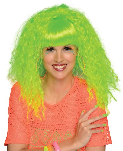 [Rubie's Costume Rock 'N Rave Wig, Neon Green, One Size] (Neon Green Wigs)
