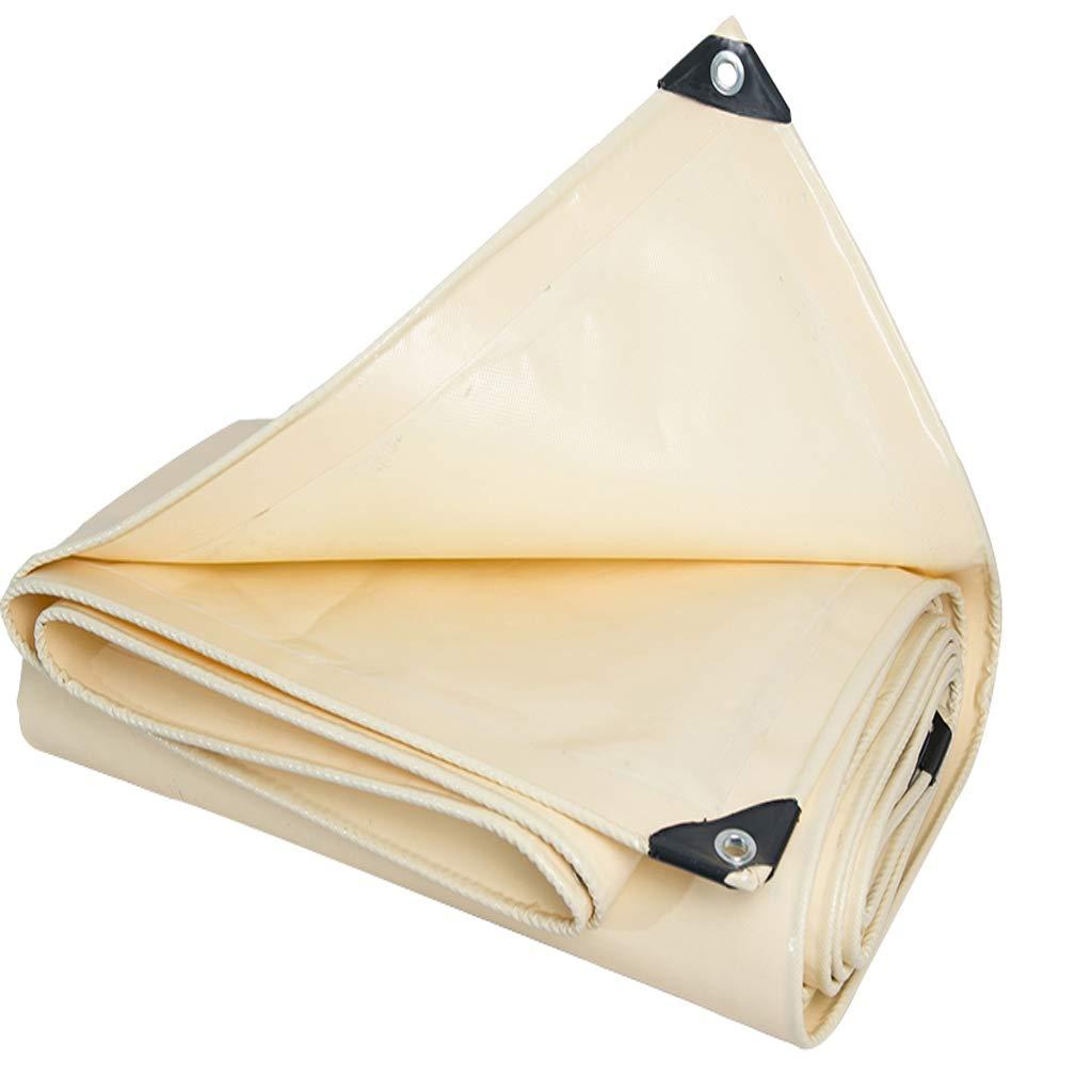 屋外厚い黄色ターポリンレインクロスサンシェードブランケット日焼け止めパッドヘビーデューティUVダブルサイド防水タフタリンPVCコーティングナイフ掻きクロス (サイズ さいず : 5x5m) 5x5m  B07NVVJ5CL