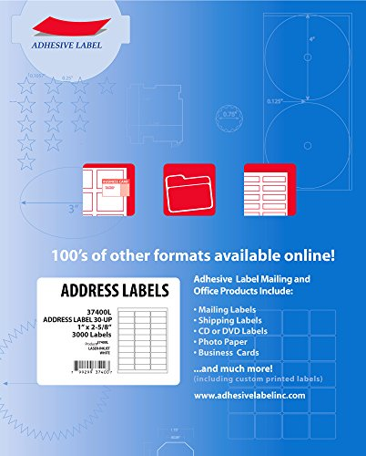 100 sheets of 30 up address fba labels 1 x 2 5 8 avery 5160 5260